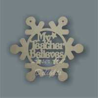 Bauble SNOWFLAKE with set wording / Laser Cut Delights