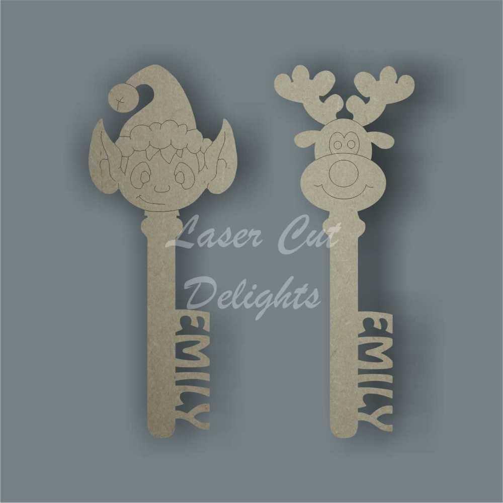 Christmas Keys, Tags & Buttons