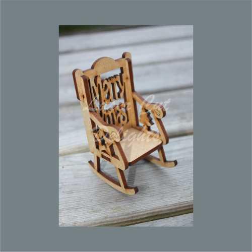 Chair - Dolls House Fairy Elf (Rolled Handle) 8.5cm 3mm