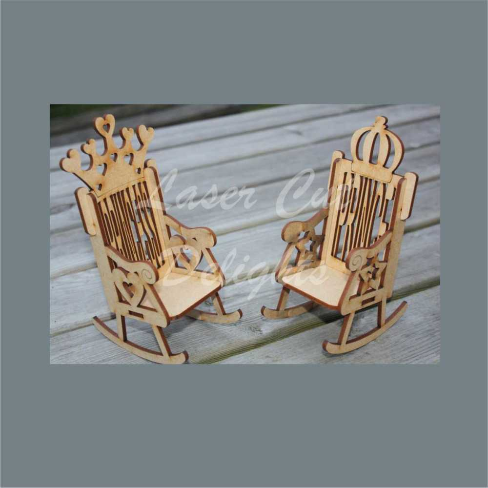 Chair - Prince or Princess (Rolled Handle) 17cm