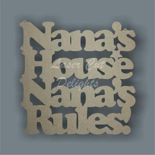 Nana's House Nana's Rules! 3mm 25cm