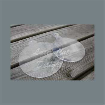 Clear Acrylic BASIC Bauble