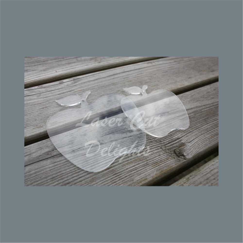 Bauble Clear Acrylic APPLE / Laser Cut Delights