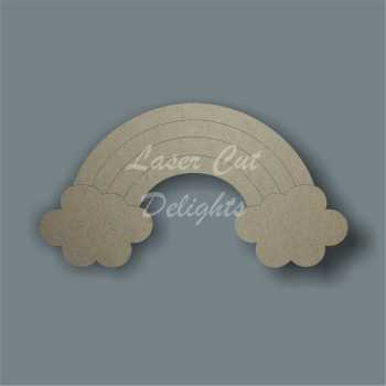 Rainbow with Clouds 3mm / Laser Cut Delights
