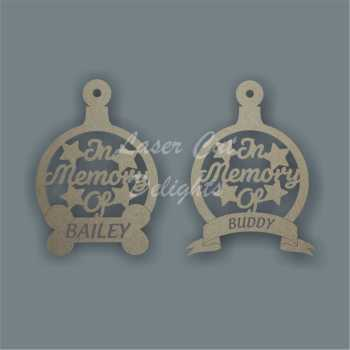 Bauble - In Memory Of... BONE or BANNER 3mm 13cm