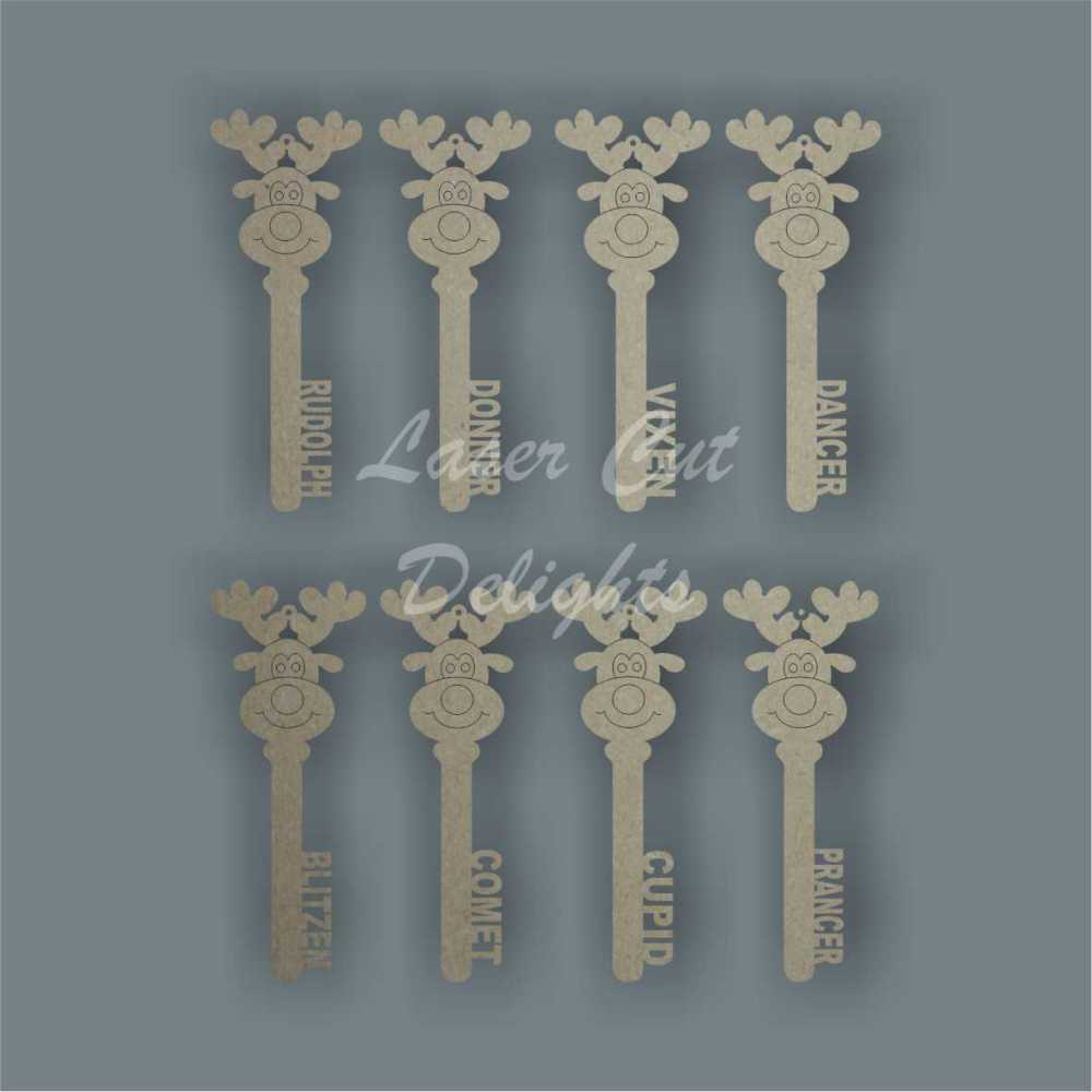 Reindeer Keys Set x 8