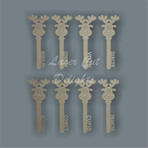 Reindeer Keys Set x 8