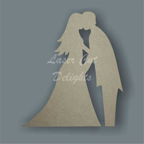Bride and Groom Wedding Couple Kissing 3mm 10cm