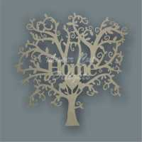Tree Single Word HOME / Laser Cut Delights