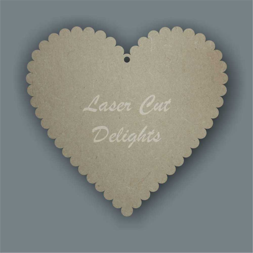 Scalloped Heart (Basic) / Laser Cut Delights