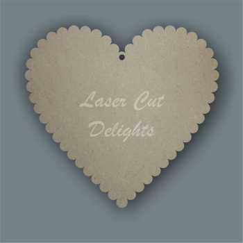 Scalloped Heart (Basic) 3mm 15cm