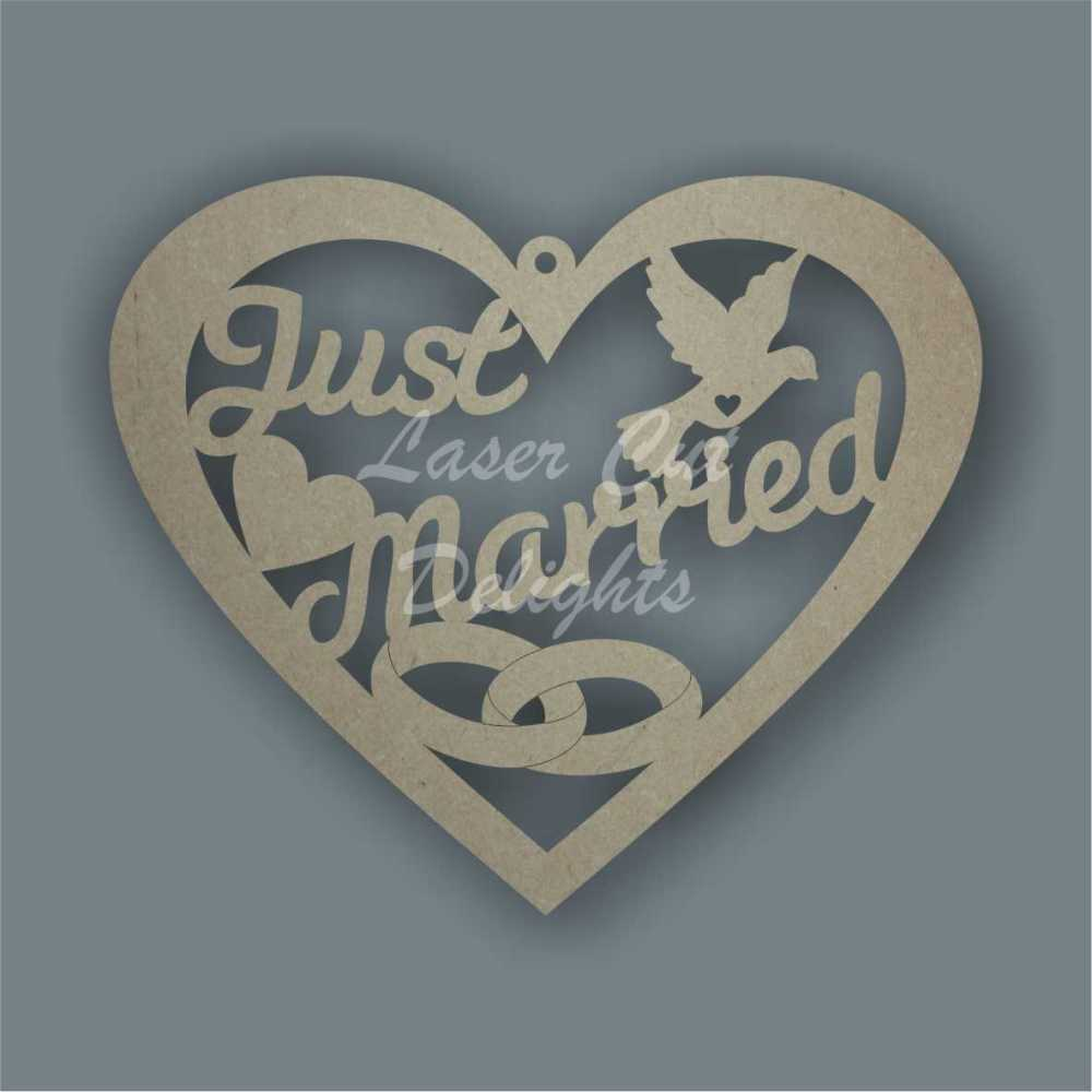Heart - Just Married 3mm 20cm