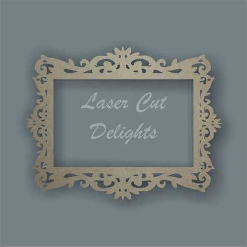 Ornate Frame ONLY - Various Shapes and Sizes 3mm