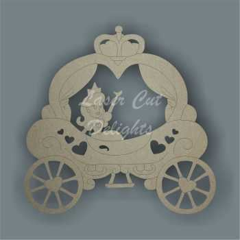 Princess Pumpkin Carriage 3mm 12cm