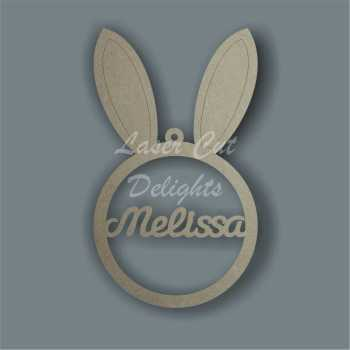Bauble - Bunny Rabbit Ears Personalised 3mm 15cm