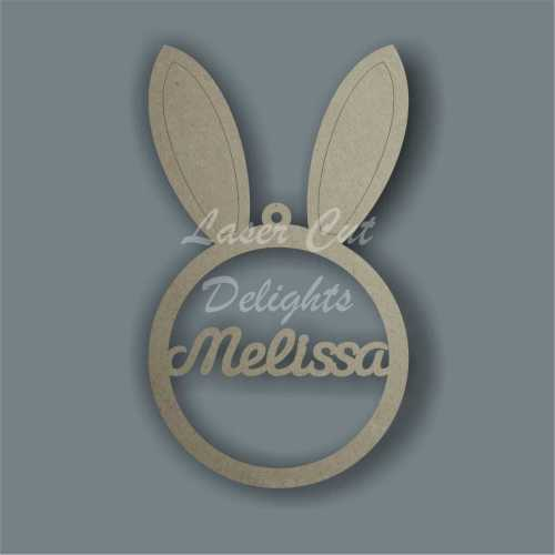Bauble - Bunny Rabbit Ears Personalised 3mm 15cm