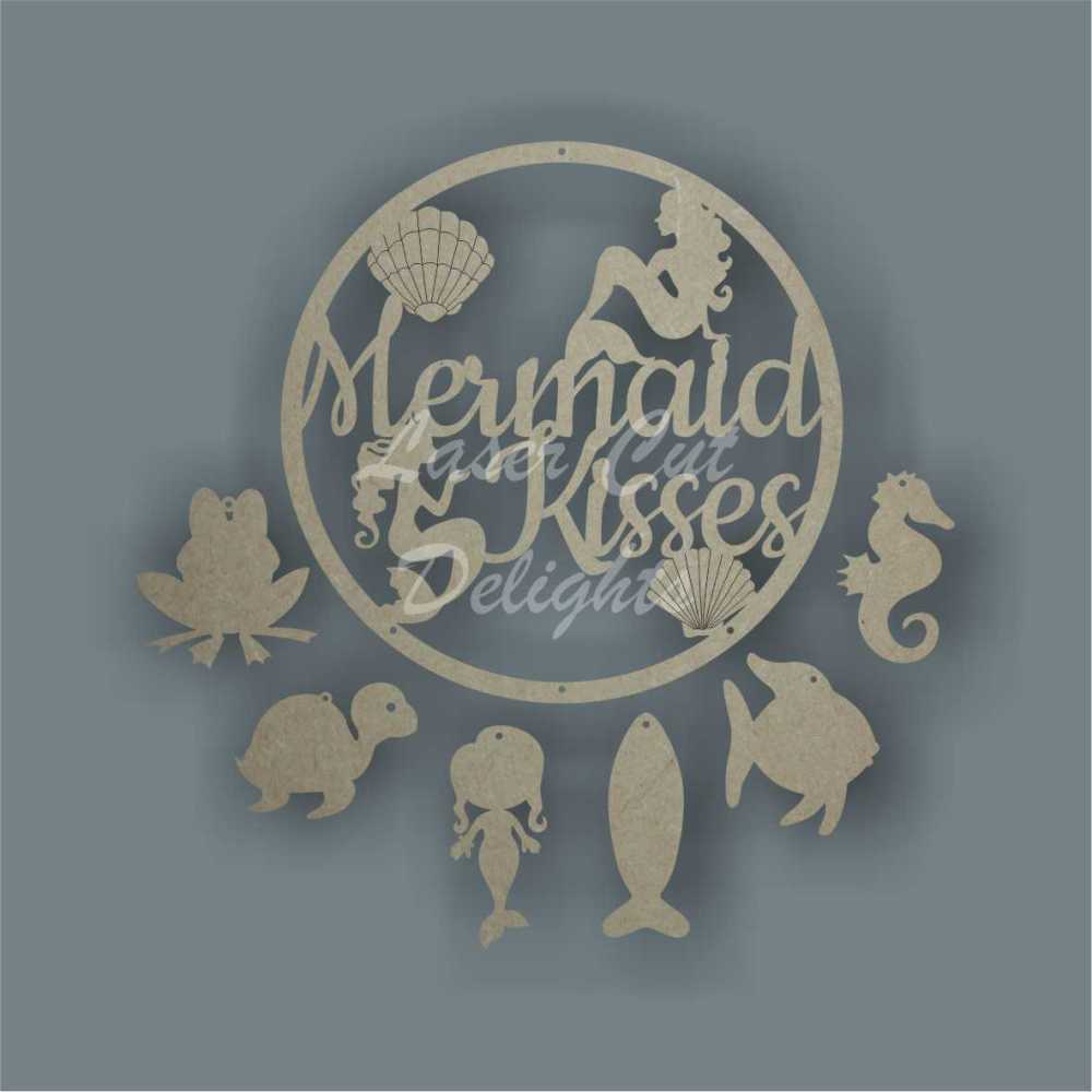 Dream Catcher - Mermaid Kisses or Wishes / Laser Cut Delights