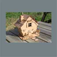 3D House Cottage with TILED roof / Laser Cut Delights