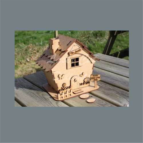 3D House Cottage with tapered sides 3mm