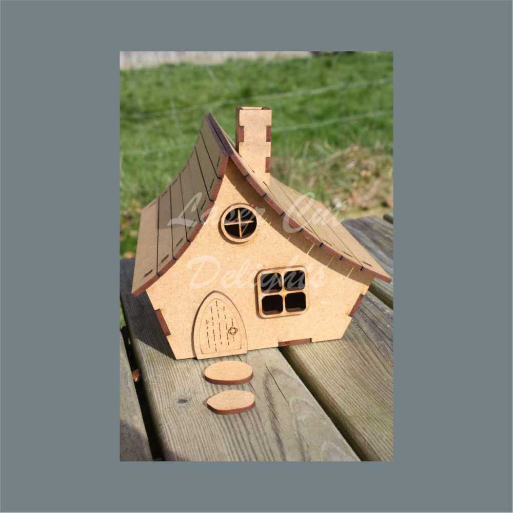 3D House Cottage with curved roof 3mm