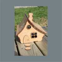 3D House Cottage with CURVED roof / Laser Cut Delights