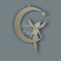 Thin Moon with fairy sitting / Laser Cut Delights