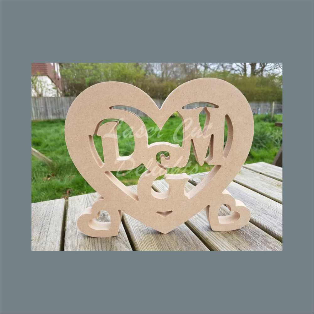 Heart with INITIALS 18mm 20cm