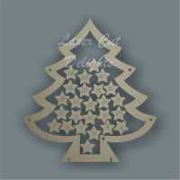 Christmas Tree Countdown To Christmas DROP BOX / Laser Cut Delights
