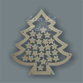 Christmas Tree Countdown To Christmas DROP BOX 3mm 25cm