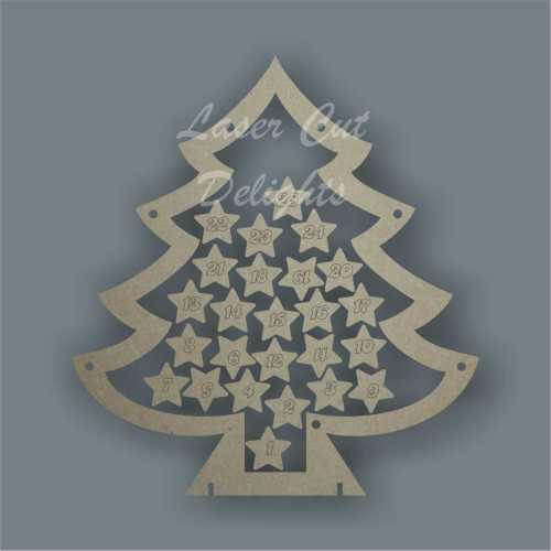 Christmas Tree Countdown To Christmas DROP BOX 3mm 25cm