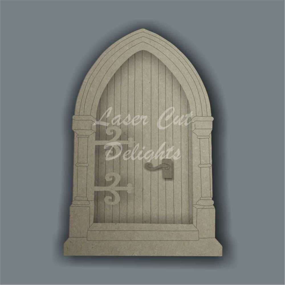 3D Fairy Door CATHEDRAL style 3mm 15cm