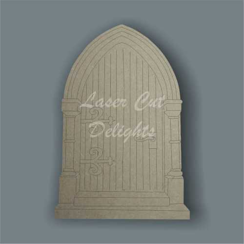 Fairy Door CATHEDRAL style (flat) 3mm 15cm