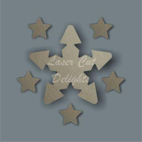 Shape in Star (multiple) 18mm 15cm