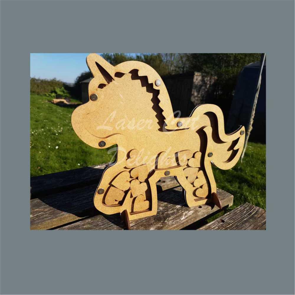 Drop Box UNICORN or HORSE Reward Chart / Laser Cut Delights