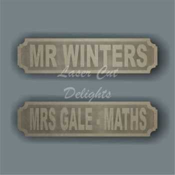 Street Sign TEACHER NAME DESK SIGN