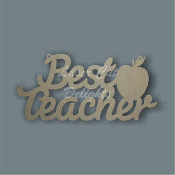 Best Teacher with large apple on side 3mm 12x25cm