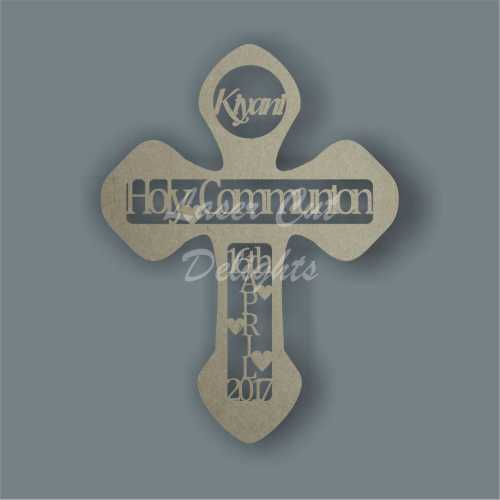 Holy Communion Cross - Personalised 30cm 3mm