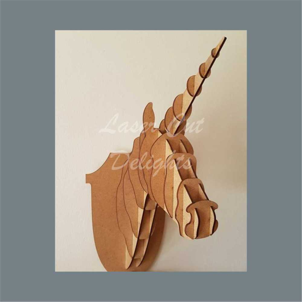 Wall Mount Unicorn Head / Laser Cut Delights