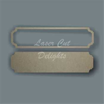 Street Sign NO WORDING / Laser Cut Delights