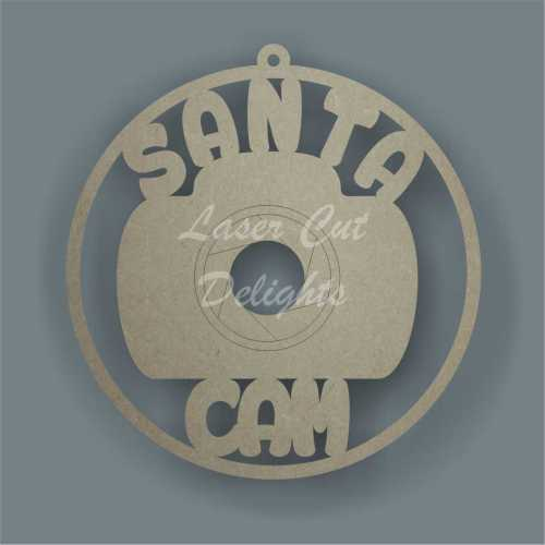 Bauble Santa Cam 10cm 3mm