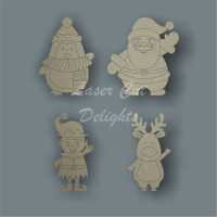 Christmas Characters Waving 12cm 3mm