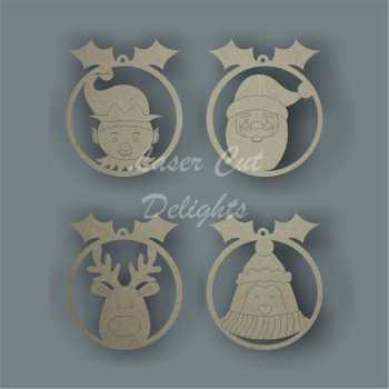 Bauble Characters / Laser Cut Delights