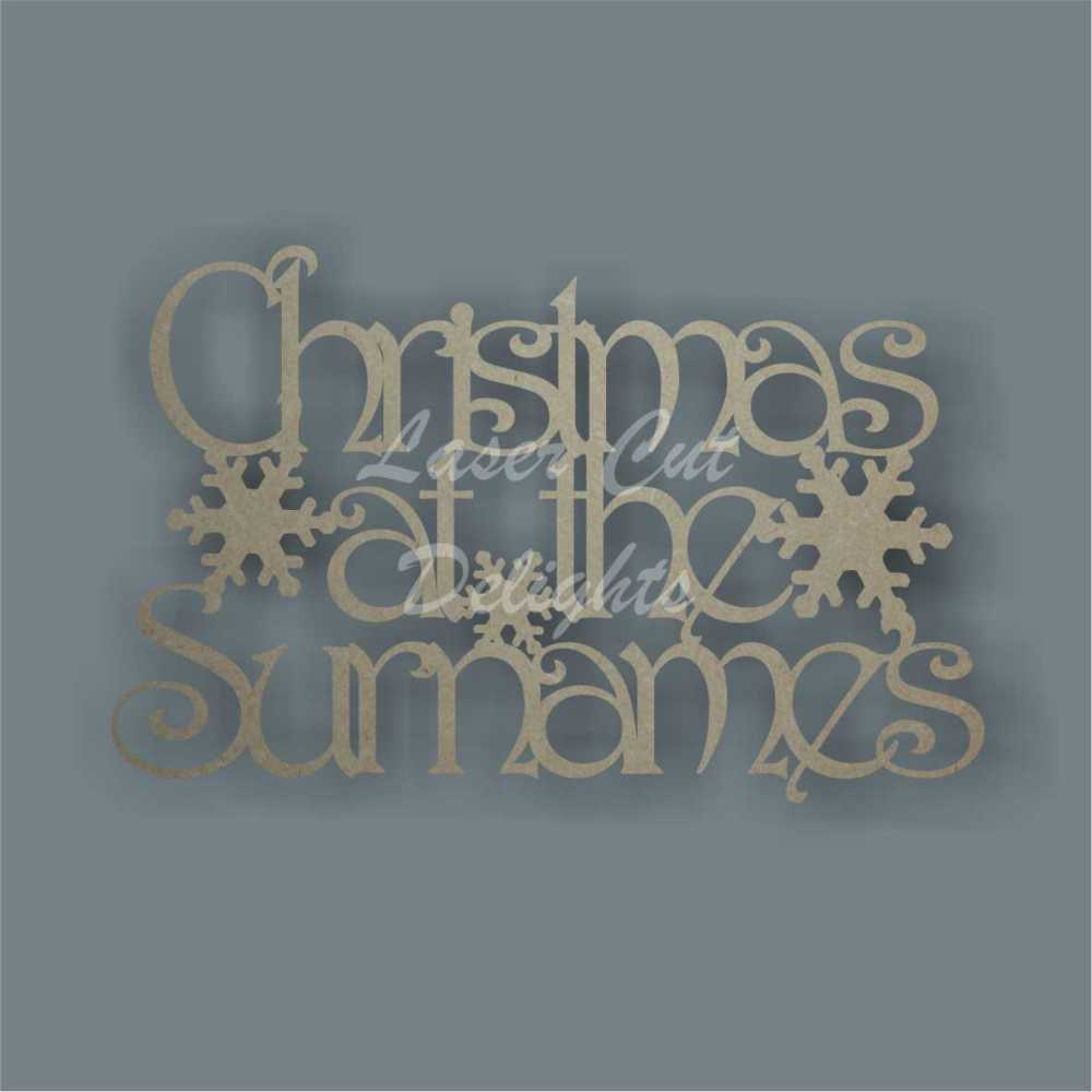 Christmas at the 'surname' (Designer Font) 30cm