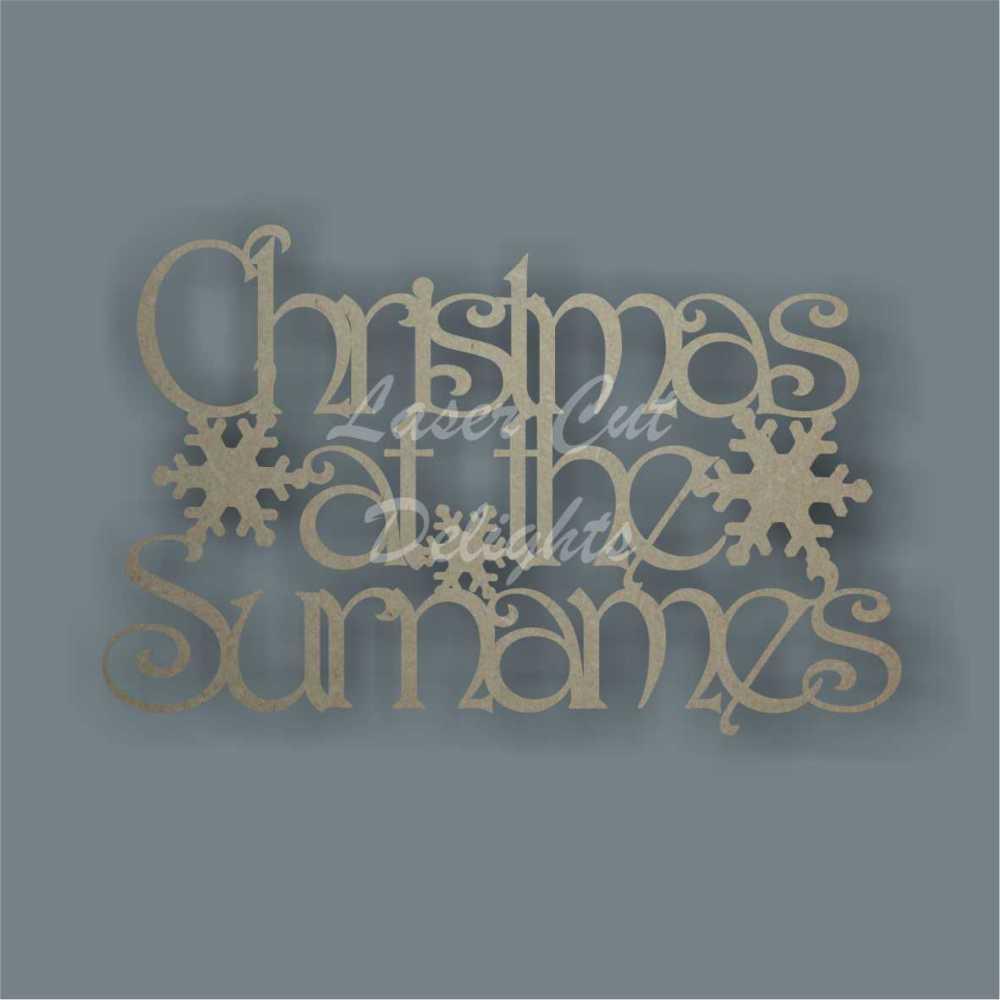 Christmas at the 'surname' (Designer Font) 30cm