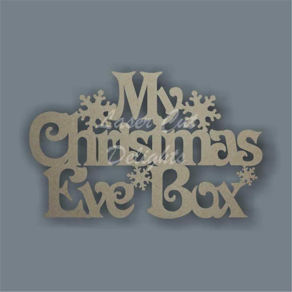 Christmas Eve Box Plaque Lid Topper NO FRAME (Generic) 3mm