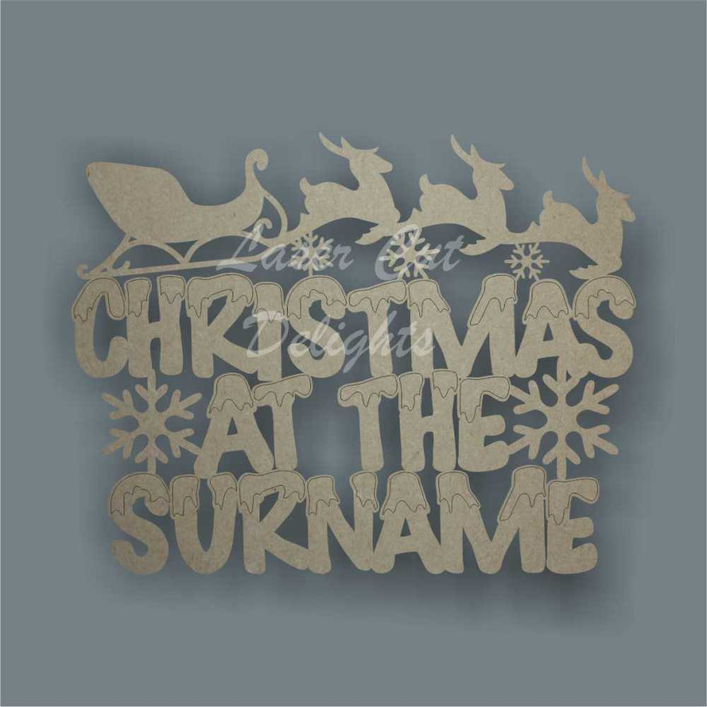 Christmas at the 'surname' (Snowey Font) 3mm