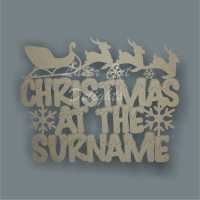Christmas at the 'surname' (Snowy Font) 3mm