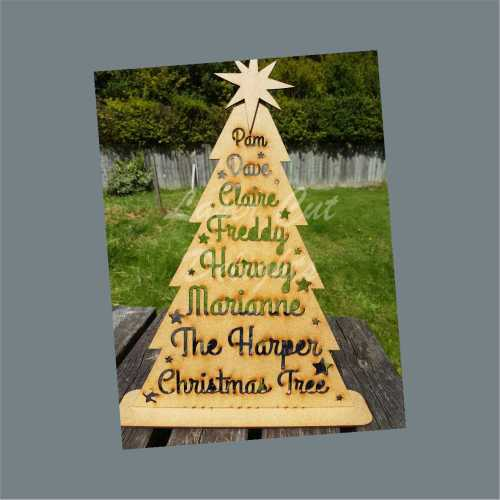 Christmas Tree Personalised with Seperate Star
