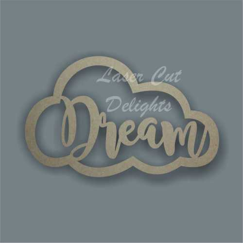 Personalised name in a cloud wall art kids bedroom theme