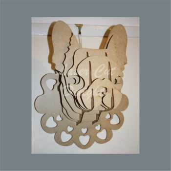 Wall Mount French Bull Dog Head / Laser Cut Delights